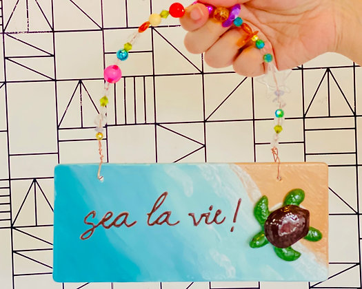 Step-by-Step Project: Sea Turtle Beach Ceramic Plaque