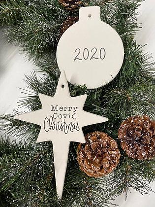 Merry Covid Ornament Box: Acrylic