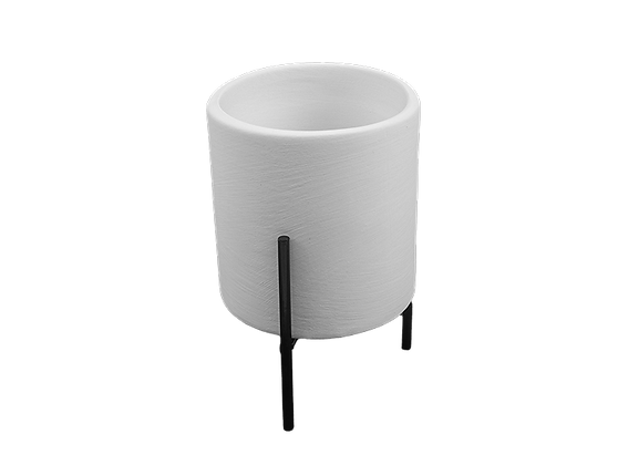 Small Cylinder Planter with Stand