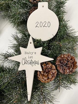 Baby's 1st Christmas Ornament Box: Acrylic