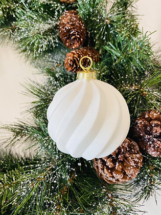 Swirl Ball Ornament Set of 2