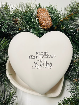 First Christmas as Mr. & Mrs. Heart Box