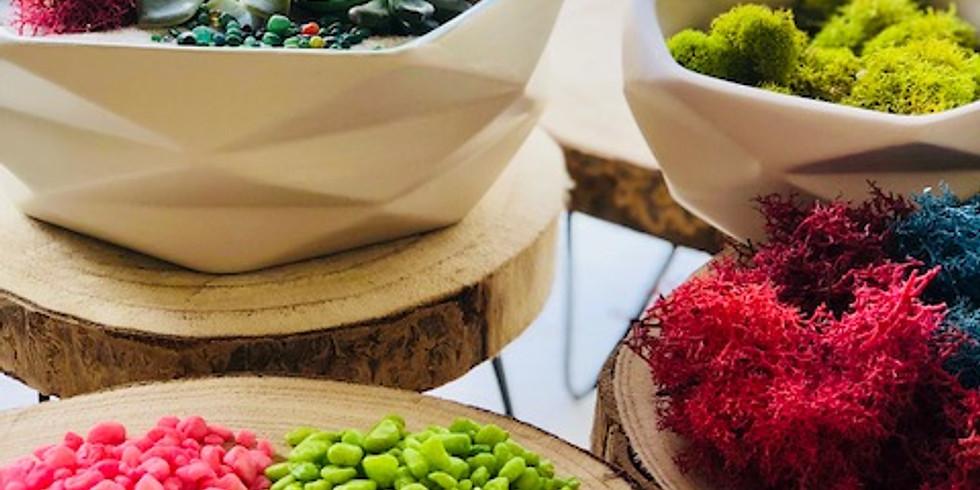 Pebble & Vine's Succulents Arrangement Workshop: Mom Edition