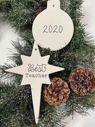 Best Teacher Ornament Box: Acrylic