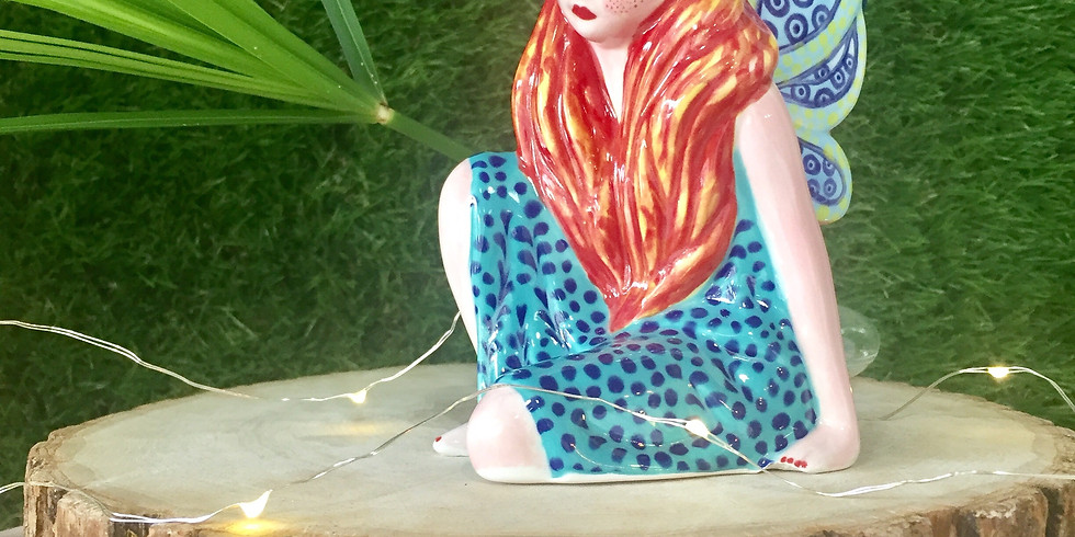 Pottery Painting: Sitting Fairy