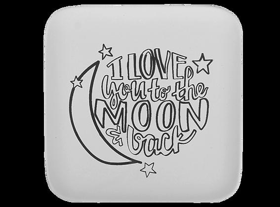 Moon and Back Medium Plate