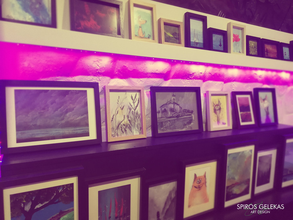 Framed artworks