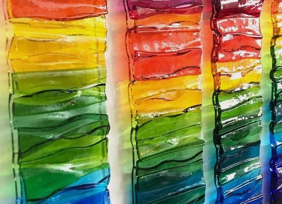 Fused Glass- Layered Rainbow Suncatcher- Fri. 4/30 6-8pm