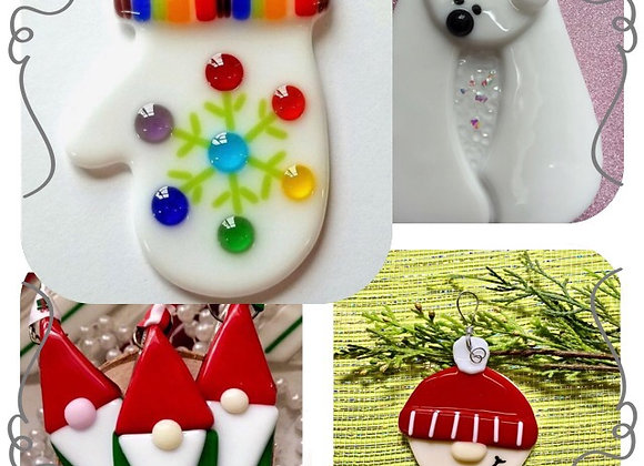 Fused Glass Ornaments-Wed. 12/2 6-8pm