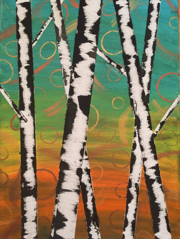 Kids birch by Laurie