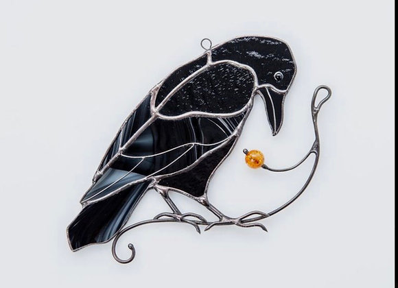 Stained Glass Raven-Sat. 2/20 Noon-4pm