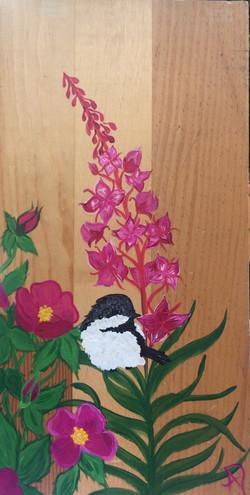 fireweed and chickadee II