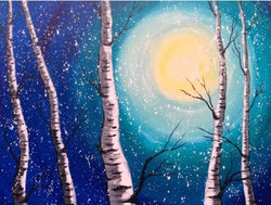 Birch in Moonlight