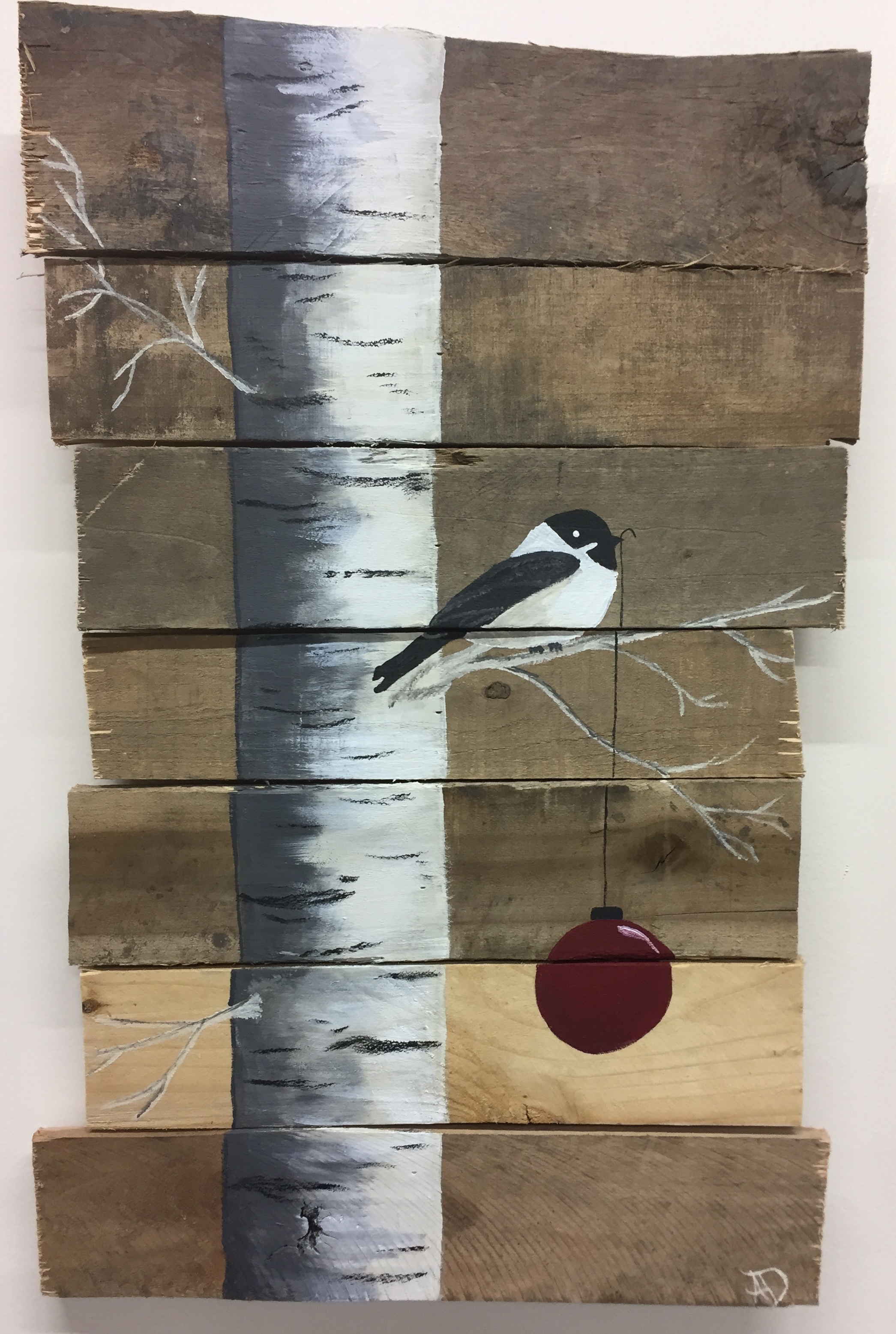 Chickadee w_ ornament