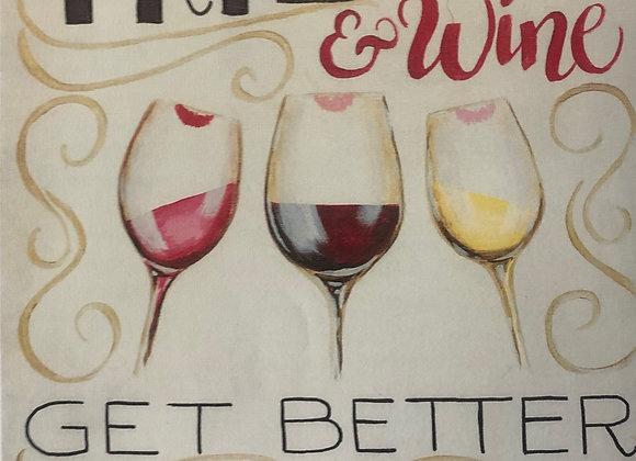 Friends & Wine Paint Kit