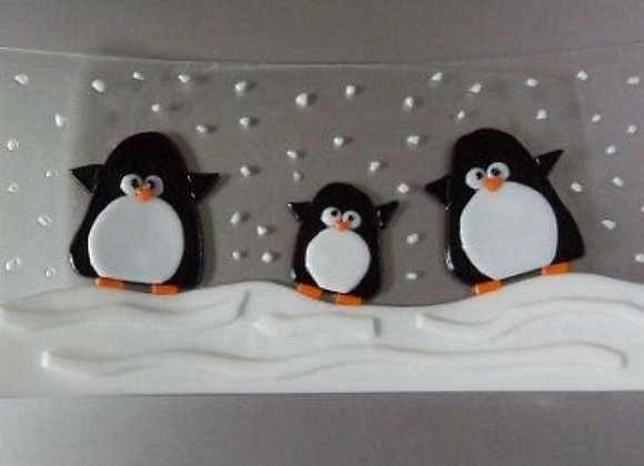 Fused Glass Playful Penguins-Thurs. 12/3 6-8pm