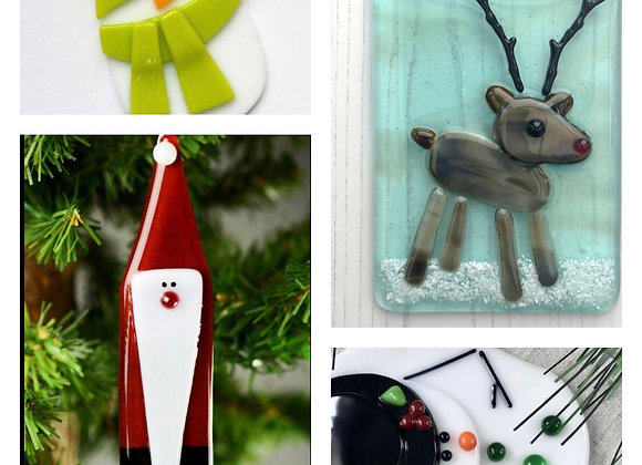 Fused Glass Christmas Ornaments-Thurs. 10/15 6-8pm