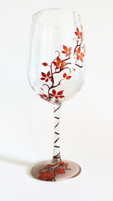autumn wine glass