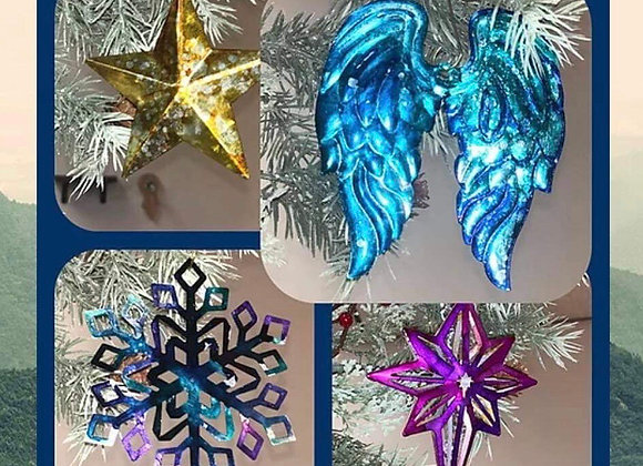 Alcohol Ink Ornaments Kit