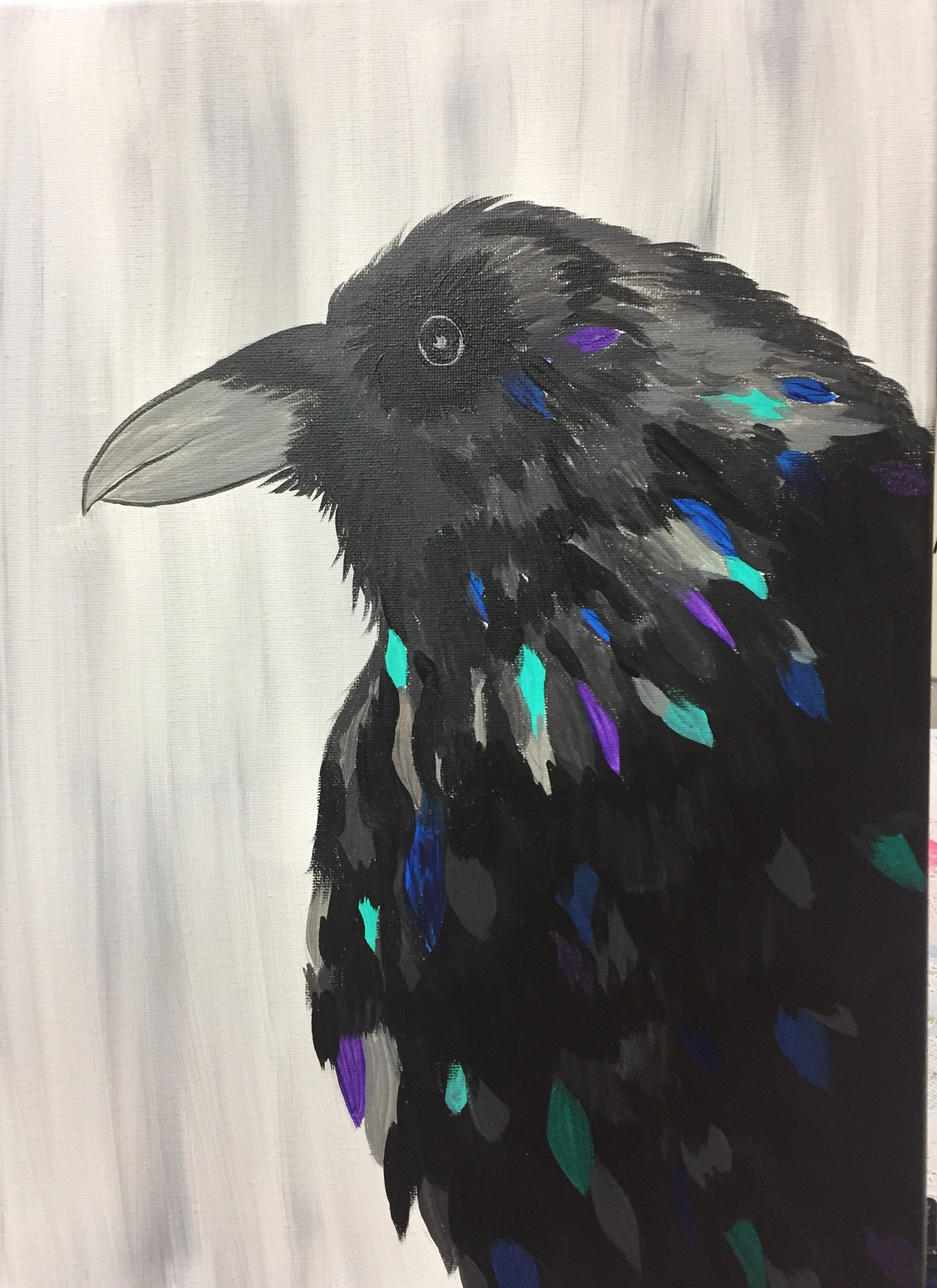 Raven of many colors