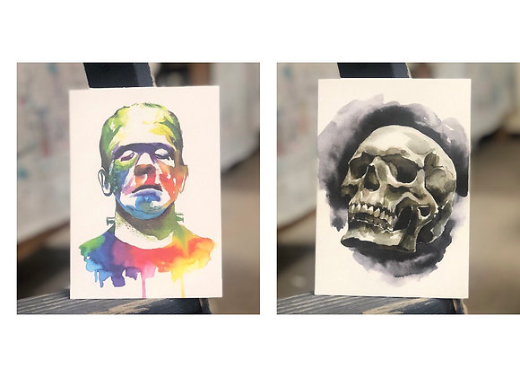 Watercolor Halloween-Thurs. 10/15 6-8pm