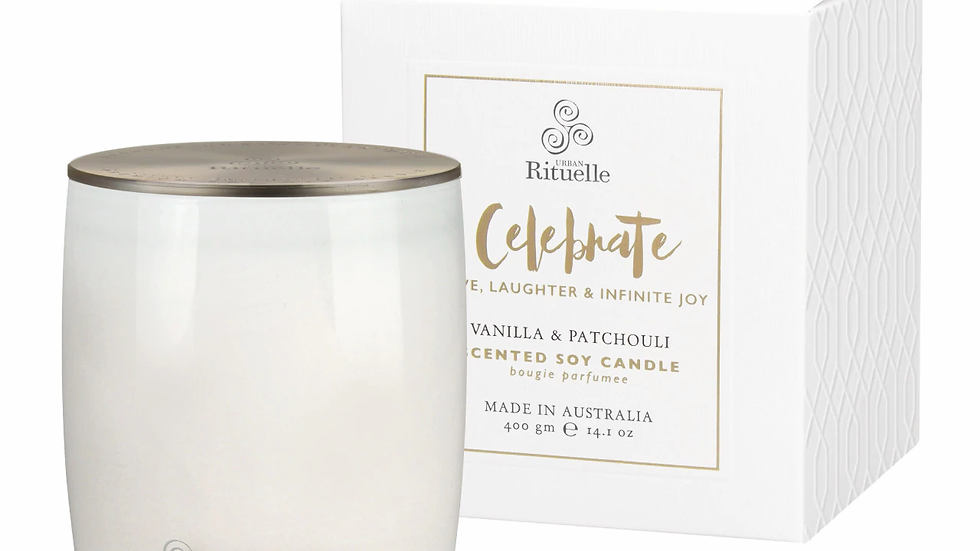 Scented Soy Candle Celebrate • Vanilla & Patchouli