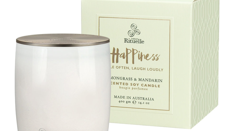 Scented Soy Candle Happiness • Lemongrass & Mandarin