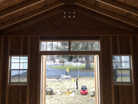 Transom windows can ad class and functionality to your shed