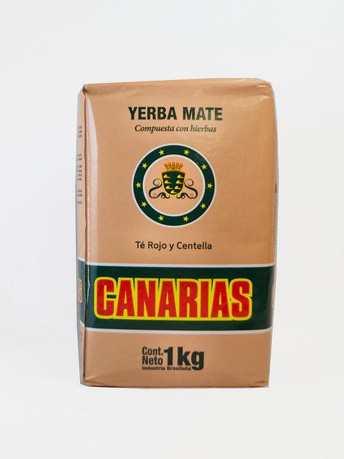 Yerba Mate Canarias Te Rojo y Centella