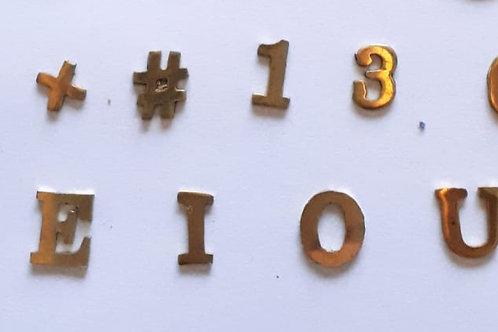 Aplique Alfa numéricos