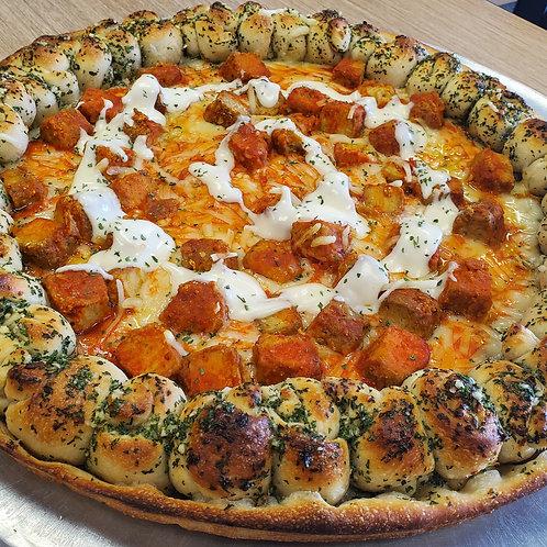 Buffalo Tempeh Pizza
