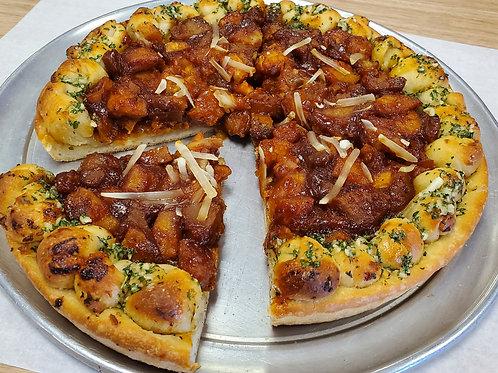 BBQ Seitan Nuggets Pizza