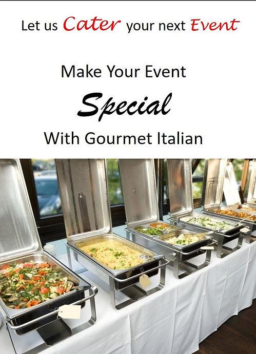 Catering Italian food