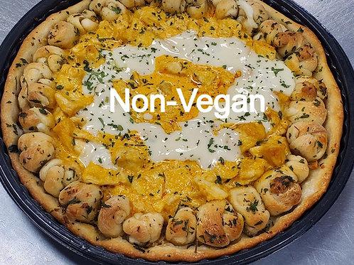 Non-Vegan Buffalo Chicken Pizza