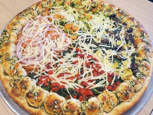 Vegan Veggie Sampler Pizza