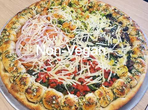Non-Vegan Veggie Sampler Pizza