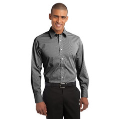 Port Authority Fine Stripe Strech Poplin Shirt