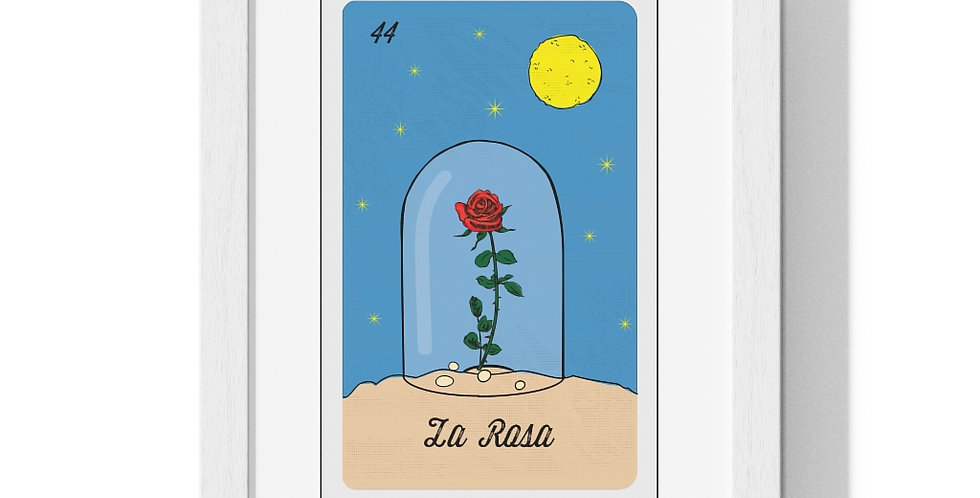 La Rosa Loteria Card Premium Framed Poster