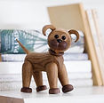 Dog, Danish Design, Wooden Dog, Handmade