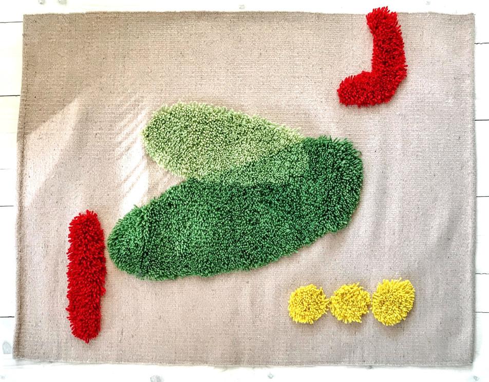 100% wool handwoven rug