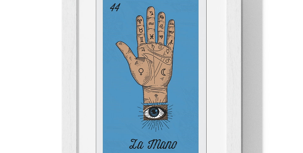 La Mano Loteria Card Premium Framed Poster