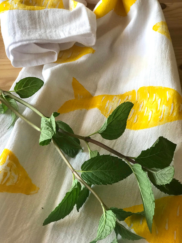 TZATZA kitchen towel in lemon