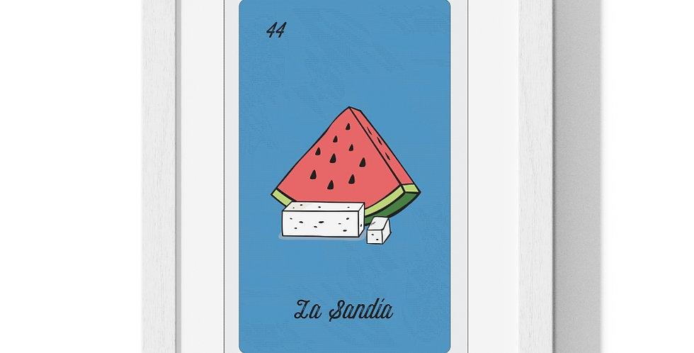 La Sandia Lotería Card Premium Framed Poster