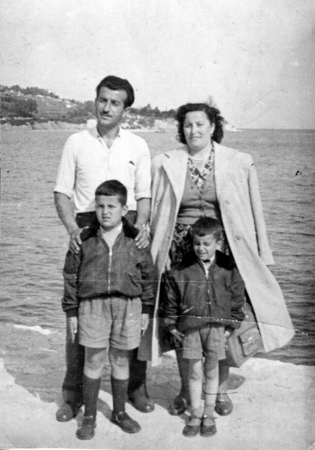 Sea Garden 1957 - my grandparents, father, and uncle