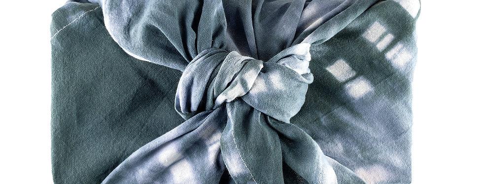 Shibori  100% Cotton Kitchen Towel in Washed Indigo