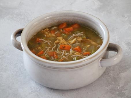 Easy 'No Chicken Noodle Soup'