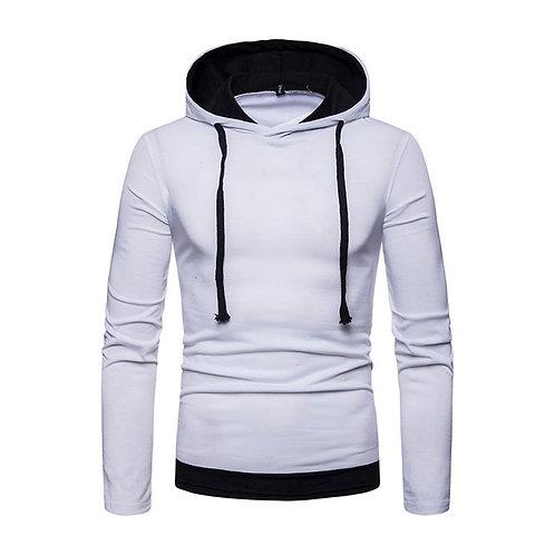 Flabbr Men Cotton Long Sleeves Solid Color Sweatshirt Casual Hoodies