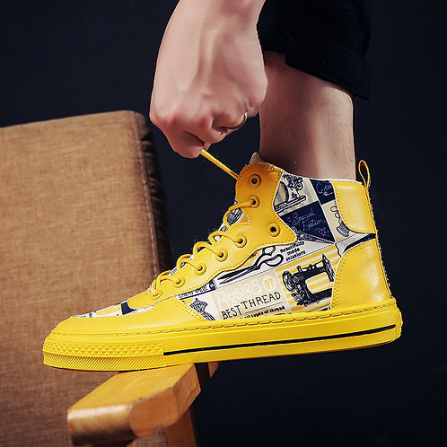 Men Streetstyle High Top Sneakers Shoes