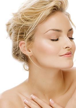 Femme peau eclatante rajeunir cabinet laser de Deauville