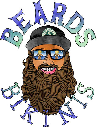Beards and Bikinis Sticker